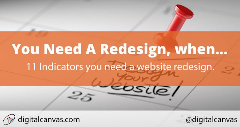 You Need A Website Redesign, When...