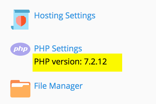 PHP Version in Plesk